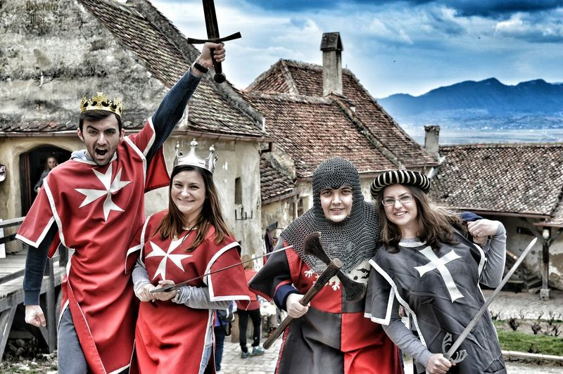 People And Places we've went back in time Mask - Disguise Mountain Medieval Fashion Medieval Knight Knight  Back In Time Castle Rasnovului Castle Knights And Queens The Photojournalist - 2018 EyeEm Awards