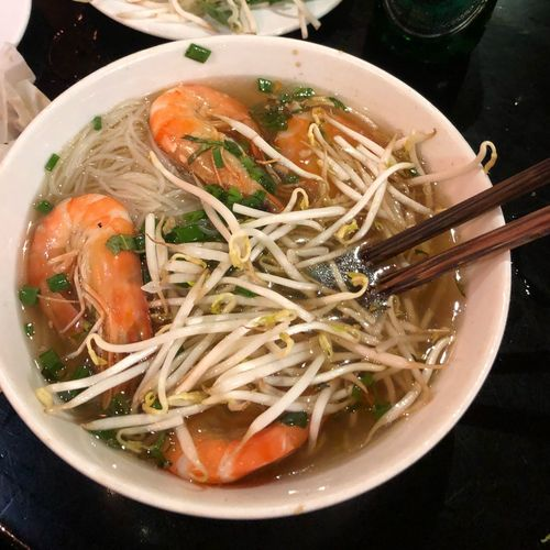 Prawn soup 🍜 Seafood Noodle SEAFOOD🐡 Seafood Soup Prawn Noodles Food And Drink Healthy Eating Food Wellbeing Asian Food Soup Bowl Noodle Soup
