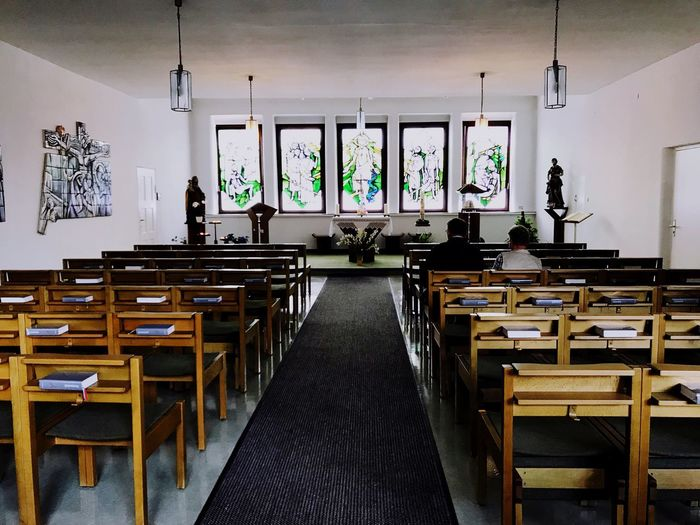 Chapel in a hospital interior chairs IPhone 7 Plus Tranquil Scene IPhoneography Iphonephotography Iphn Photography Architecture Real People Building Interior