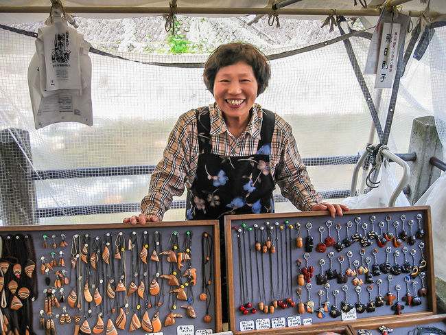 I bought a pair of really nice handmade cufflinks from this wonderful woman on a market in Takayama. From The Archives Market Takayama Happiness Looking At Camera Memories Of Japan One Person People Real People Small Business Smiling