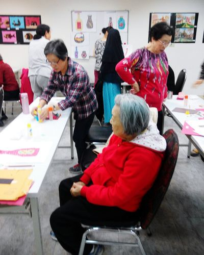 Everything In Its Place Crafting Class for elderly Peoples 50-95 year old.. 😊 The View And The Spirit Of Taiwan 台灣景 台灣情 Art, Drawing, Creativity Showcase March Enjoying Life Oldbutawesome Getting Inspired Atclassroom Crafting