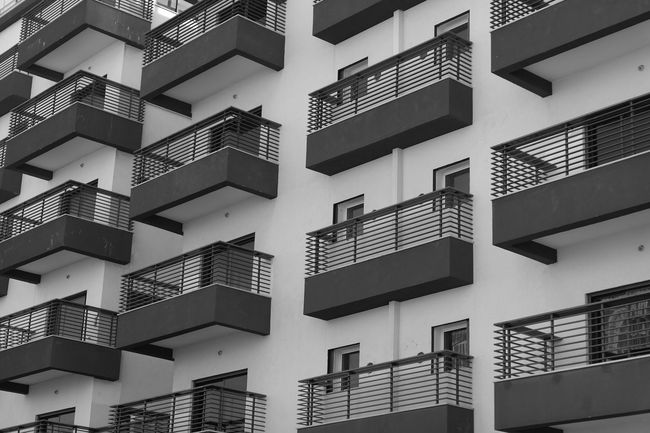 Built Structure Architecture Building Exterior Building Low Angle View Window No People Residential District City Day Backgrounds Balcony Apartment Full Frame In A Row Pattern Outdoors Staircase Nature City Life