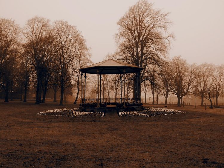 Band Stand Jubliee Park Spennymoor Spennymoor County Durham B&w Photography Parks Landscapes Trees North East