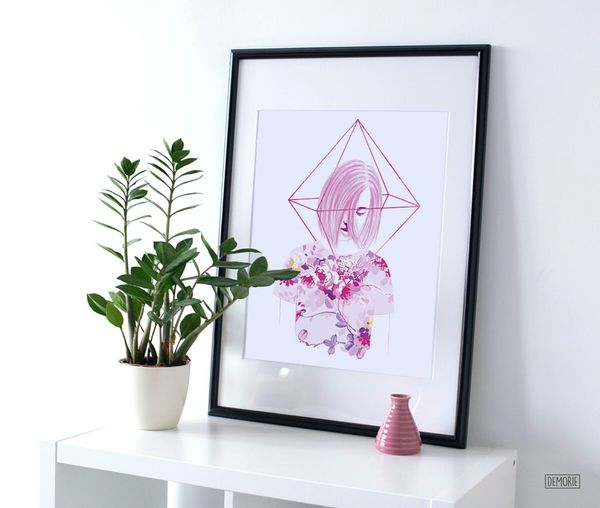 """""""Young Heart"""" - Decor :) Art Gallery Decoration Design Illustration Printing Gallery ArtWork Drawing Women Creative Beauty Girl Only Women Painting Artgallery White Background My Artwork Creativity Stamps Watercolor Drawings Artist Digital Art Photoshop Portrait"""