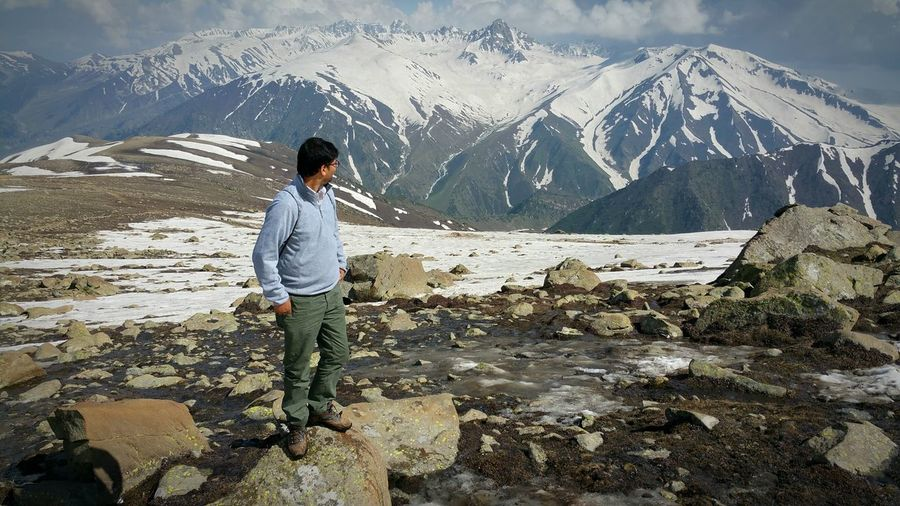 The Great Outdoors - 2015 EyeEm Awards Self Picture Model Gulmarg Holiday POVApharwat Kashmir Mountains Snow Mountain Himalayas The KIOMI Collection