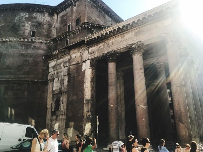 Pantheon Pantheon Rom Italy Group Of People Built Structure Building Exterior Architecture Real People Large Group Of People Women Travel History