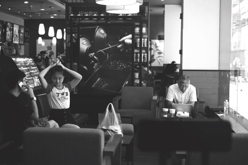 People Enjoying Life Blach&white Blackandwhite Black And White Black & White Blackandwhite Photography Black&white Black And White Photography Blackandwhitephotography Black And White Collection  Black And White Portrait