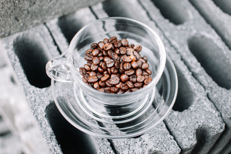 Food And Drink Food Roasted Coffee Bean High Angle View No People Freshness Coffee - Drink Large Group Of Objects Coffee Abundance Still Life Indoors  Container Close-up Selective Focus Glass - Material Jar Raw Food Brown Household Equipment Glass Caffeine Silver Colored