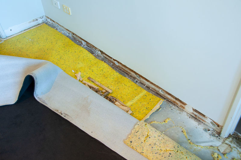 High angle view of yellow staircase