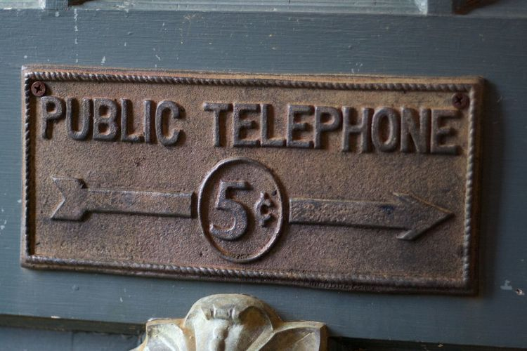 5¢ Close-up Communication Sign Telephone Sign