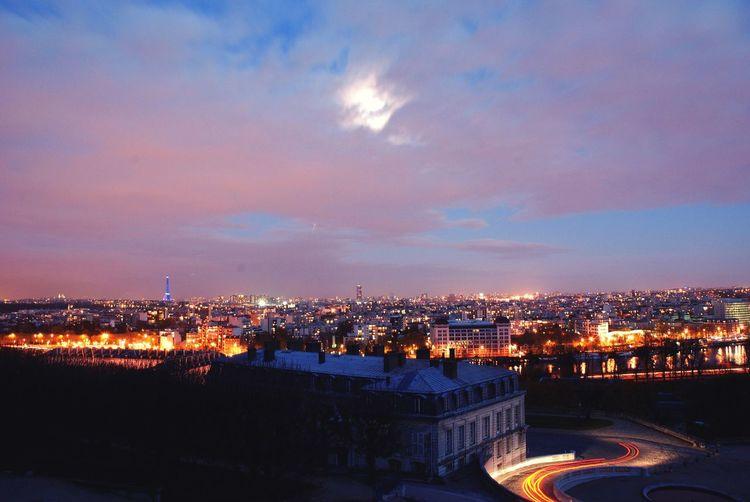 Street Night Night Lights Paris Street Light