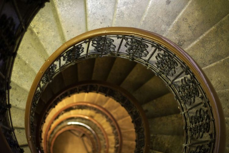 Stairs No People Golden Ratio Spiral Staircase Spiral Stairs light