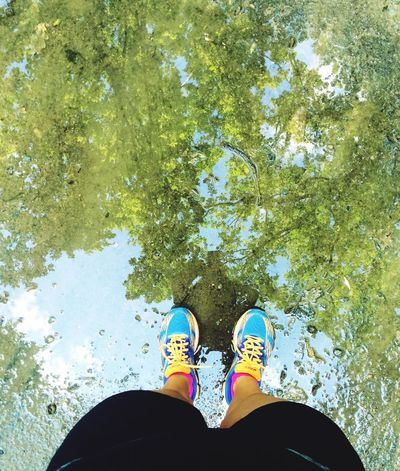 Water Reflections Outdoors Beactive Outforarun Bellissima Movement Mirror Reflection Reflection After The Rain Stayfit