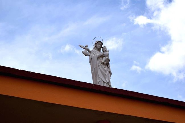 Statue From My Point Of View Church Sky