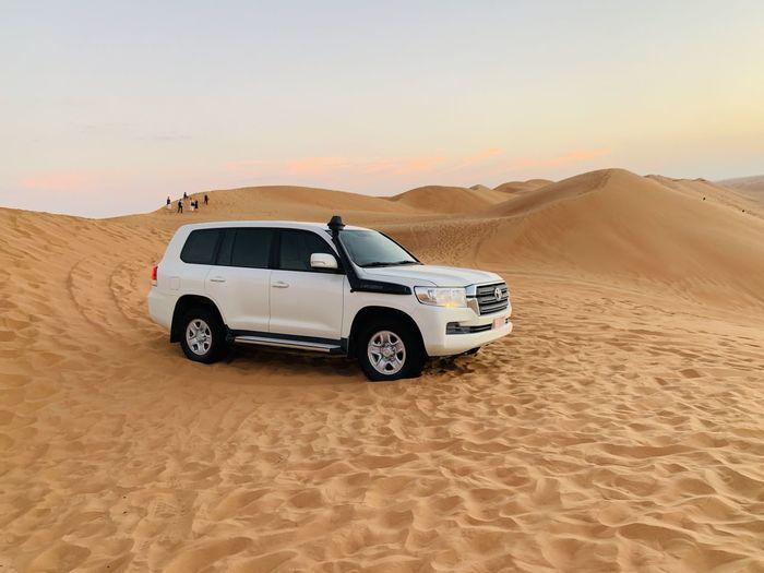 Vintage car in desert