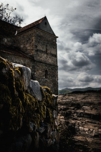 Old Rocks And Stories Cloud - Sky Built Structure Architecture Sky Building Exterior History Nature Solid The Past Building No People Old Day Rock Low Angle View Rock - Object Land Mountain Outdoors Wall Stone Wall Castle Rock Pattern Light Fortress Sibiu Romania Destination Explore Travel Nikon D7500