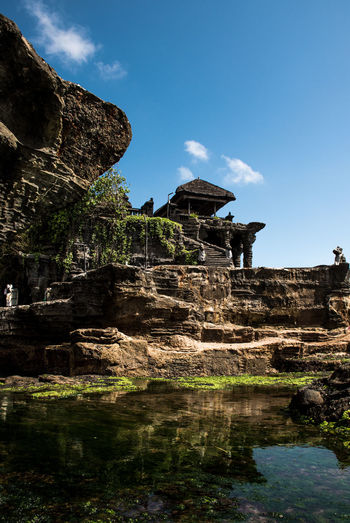 Bali Worship Hinduism Temple Sky Water Architecture Nature History Built Structure Day The Past Solid Beauty In Nature No People Rock Old Ruin Travel Destinations Reflection Scenics - Nature Tranquility Place Of Worship Non-urban Scene Outdoors Ancient Civilization Ruined