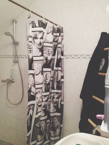 Taking A Shower Marilyn Monroe Curtain Hot Shower