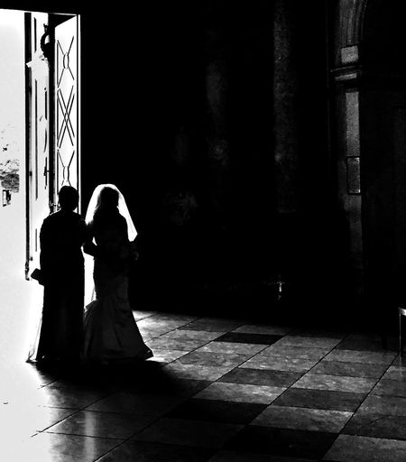 Wedding Silhouette Light And Shadow This Is It New Beginnings