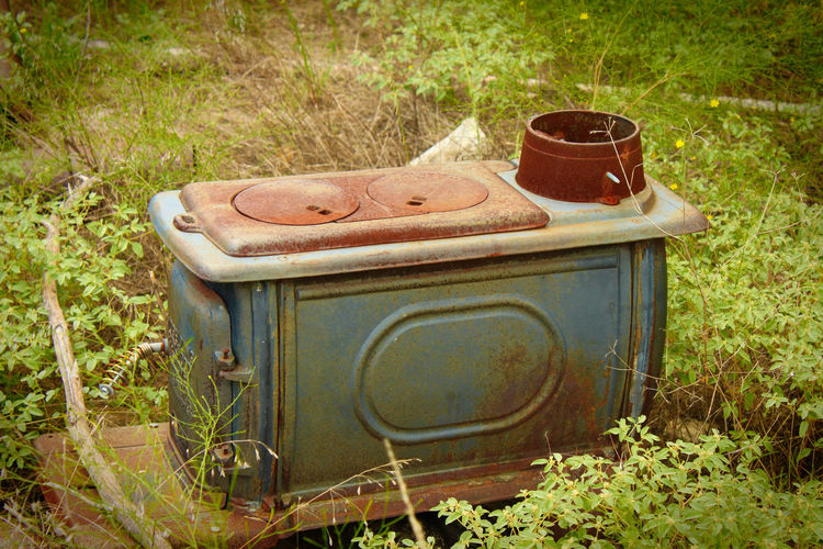 Iron Old Outdoor Photography Outdoors Rusted Metal  Sunlight Unused Woodburning Stove