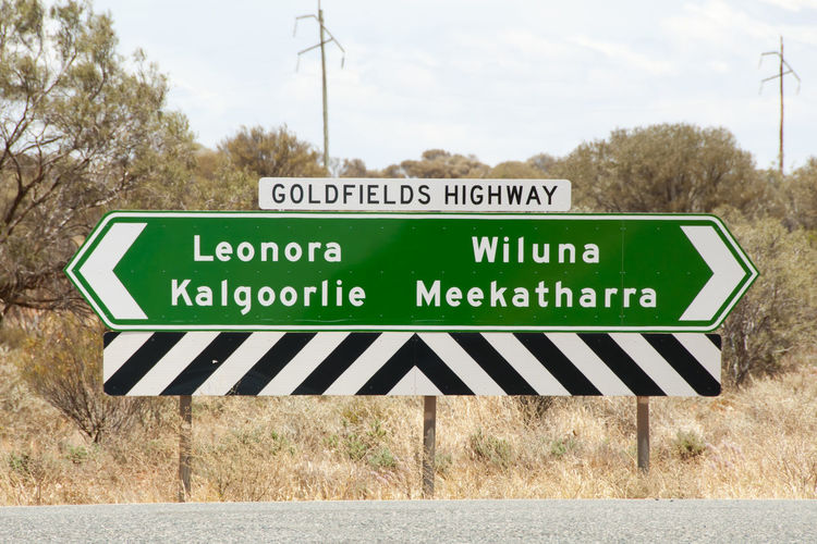 Goldfields Highway Sign Australia Outback Goldfields Highway Road Road Sign Signboard