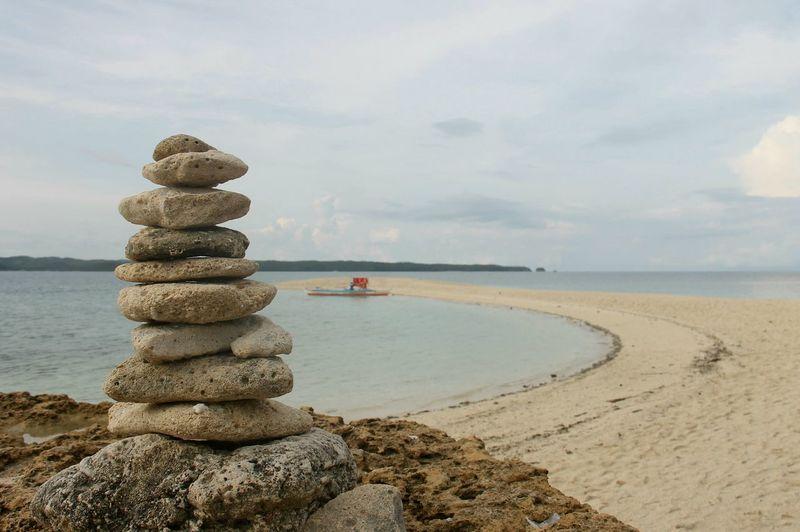 Stone Sea Beach Water Coastline Sand Landscape Sea And Sky Seascape Seaside Stones Pagoda Summer Sandbar Travel