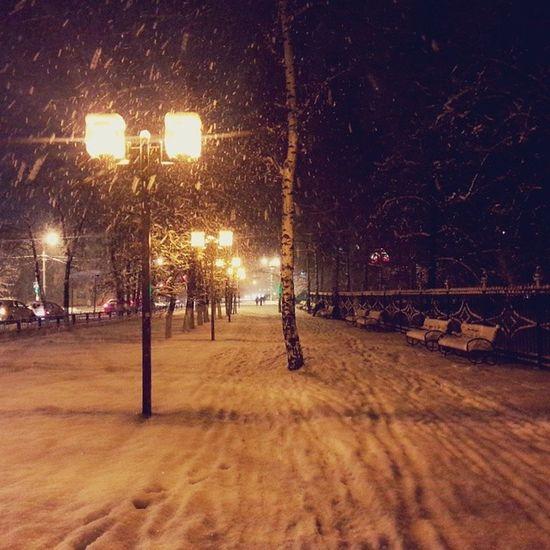 раменское михалевича снег фонарь вечер