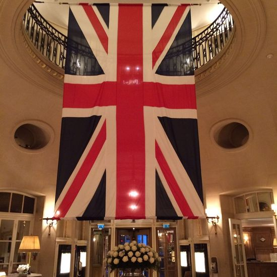 United kingdom flag at the Ritz Architecture Flag British Ritz