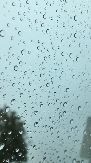 A Memory Ago Drop Wet Rain Water Window Full Frame Glass - Material Backgrounds RainDrop Rainy Season Close-up Purity No People