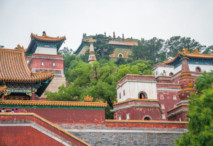 Beijing Summer Palace, a famous tourist attraction in China Ancient Ancient Buildings Architecture Beijing China Famous Place History Imperial Interesting Old Places Plaques Scenic Spots Summer Palace Temples Travel Built Structure Building Exterior Building Religion Sky Tree Place Of Worship Belief Plant Roof Nature Travel Destinations Day Spirituality No People Clear Sky Outdoors