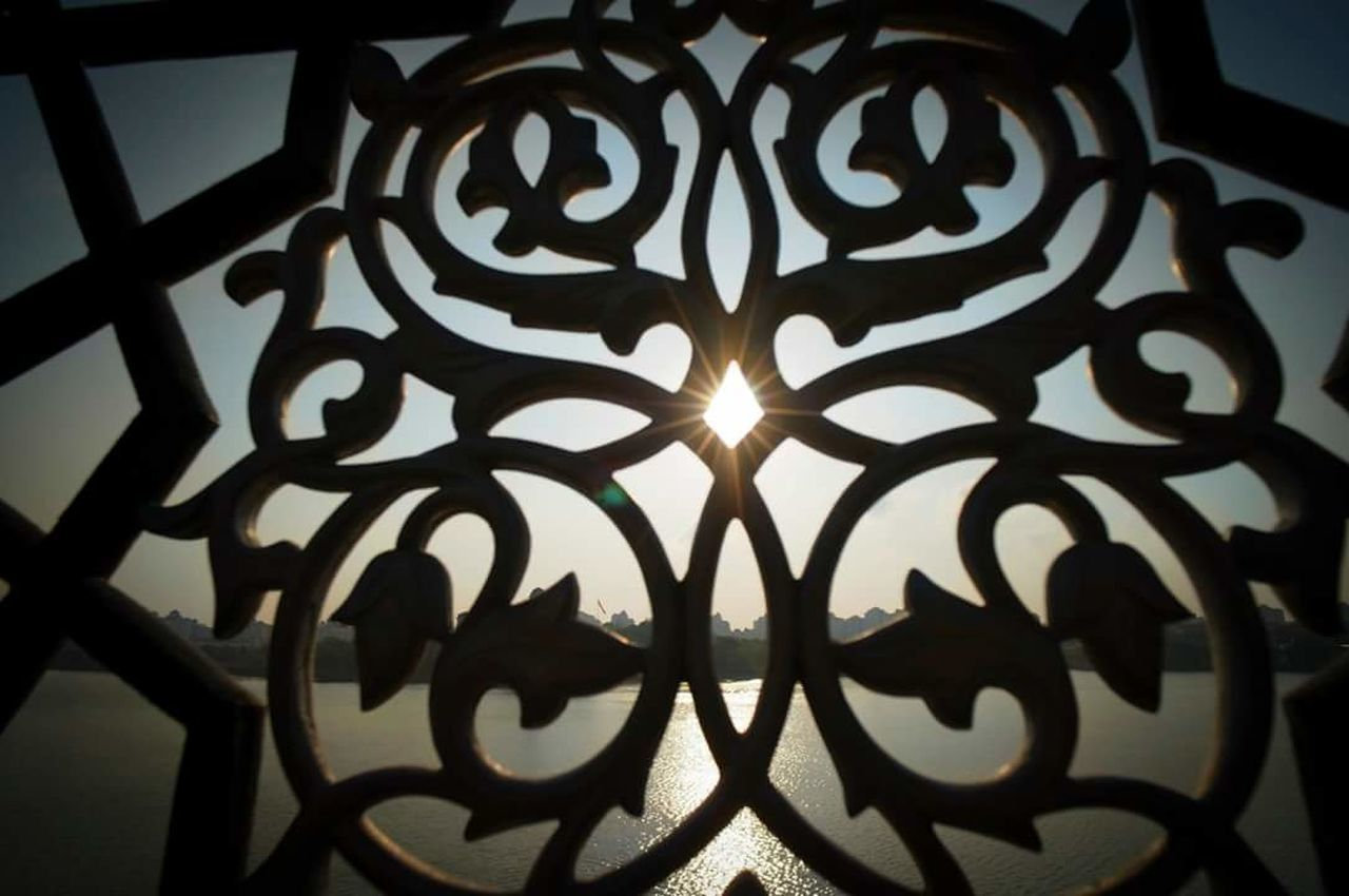 protection, design, safety, metal, gate, no people, close-up, pattern, wrought iron, low angle view, day, indoors, sky