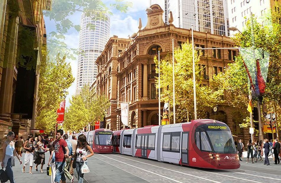 Australia In My Eyes Trams Building Exterior Low Angle View Architecture Hidden Gems  Modern City Small Eyes Big City Battle Of The Cities Edited My Way People And Places