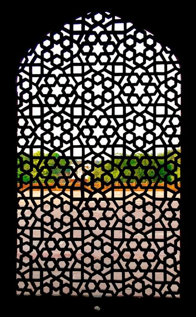India stone screen Pattern No People Interesting Tranquility Full Frame Textured  Sunlight