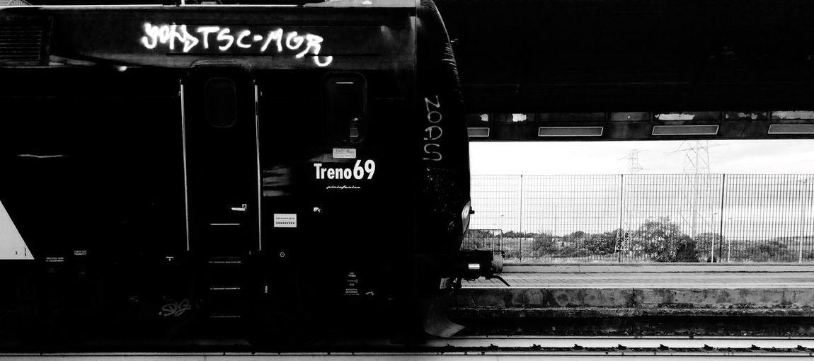 Black And White Hello World Popular Photos Rome Solitude Train Station