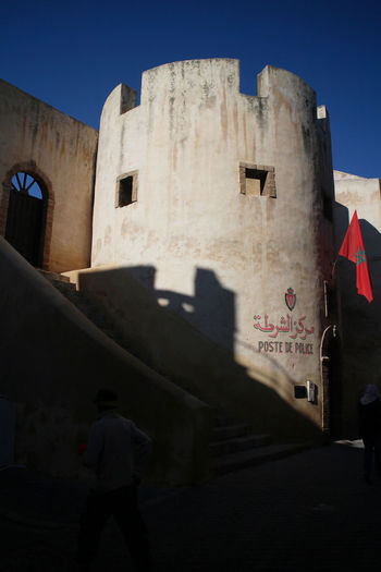 El Jadida Morocco Architecture Building Exterior Built Structure Day History No People Outdoors Police Poste De Police Shadow Sky Sunlight Turret