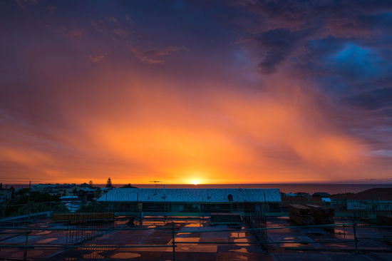 Sunset after the storm Rain Architecture Beauty In Nature Building Exterior Built Structure Cloud - Sky Horizon Over Water Nature No People Outdoors Scenics Sea Sky Sunrise Sunset Water