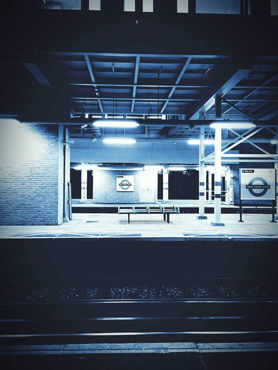 transportation, rail transportation, illuminated, no people, indoors, built structure, architecture, day