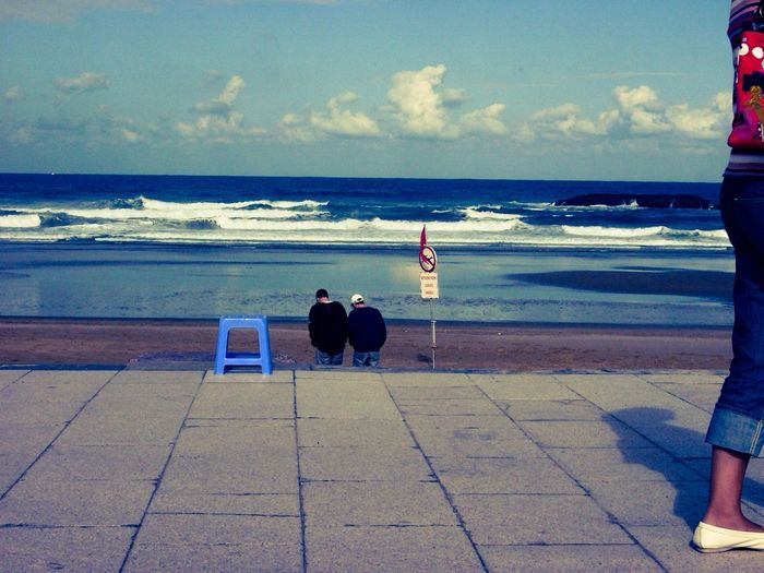 My Blue Chair Sea people Waiting