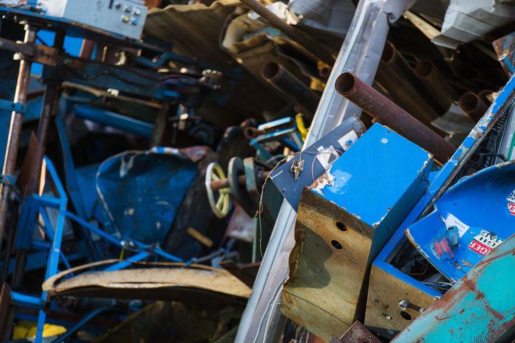 Abandoned Metals In Junkyard