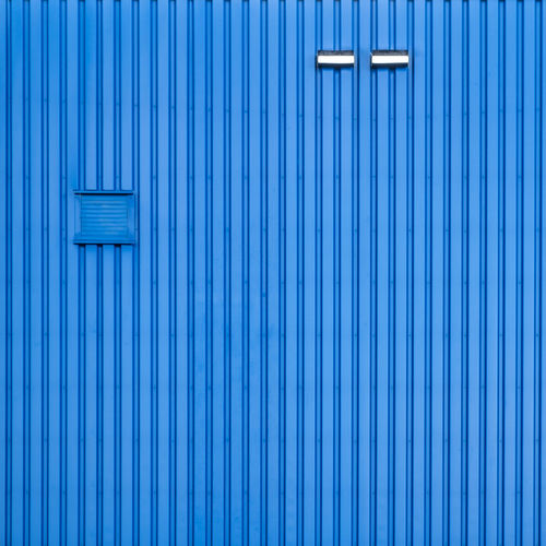 Bluemonday Minimalist Architecture Backgrounds Blue Blue Monday Bluemonday Building Exterior Built Structure Close-up Corrugated Day Full Frame Minimalism Minimalist Photography  No People Pattern Textured  Wall - Building Feature The Architect - 2018 EyeEm Awards