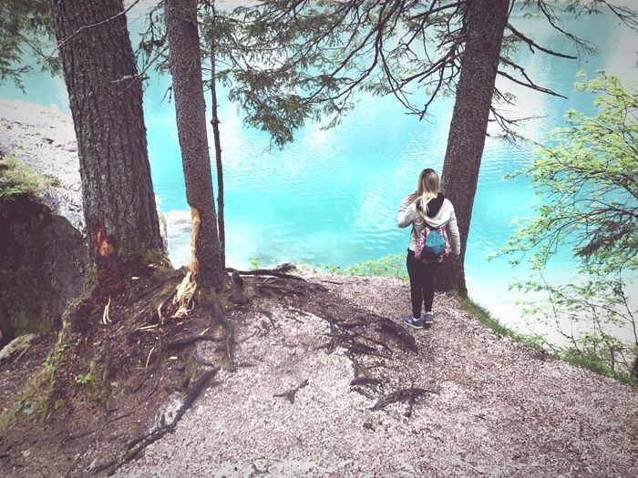Lago di Braies 🏔️🇮🇹 Tree One Person Nature Standing Day Water Outdoors Beauty In Nature Tree Trunk Women Scenics Growth Sky Lake Lake View Trentino Alto Adige Trentinodavivere Trentinowow Altoadige Altoadigedavivere Altoadigedascoprire