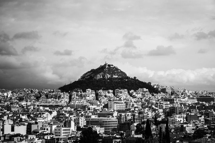 Mount Lycabettus Greece Travel Athens Lycabettus Blackandwhite NikonD3100 Mountain Landscape Cityscape