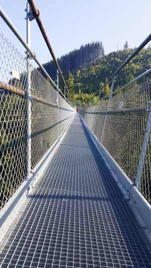 Metal Outdoors Sky Beauty Nature Switzerlandalps Swiss Alps Forest Outdoor Photography Nature Switzerlandpictures Footbridge Myswitzerland Swiss Mountains Switzerland Bridge Mountain Walking Bridge Photography Skywalk Bridge Skywalk Architecture Photo Photography Walkway