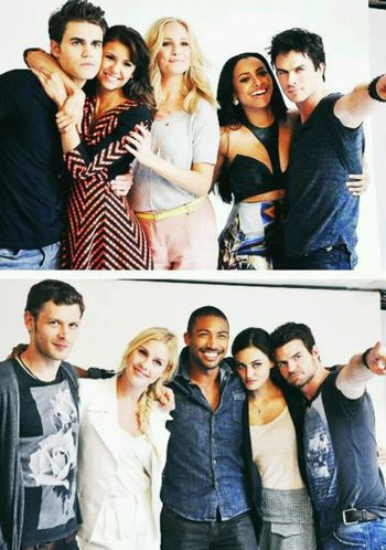 The Originals or The Vampire Diaries. One or the other, this series are better together. Friendship Togetherness Portrait Adult People Looking At Camera Standing Adults Only Medium Group Of People Youth Culture Bonding Smiling Selfie Young Adult Men Young Women Day Outdoors Organized Group Photo Tvdcasts The Originals