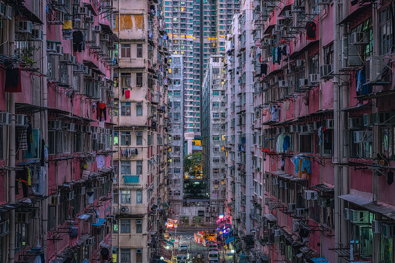 Apartment blocks kowloon, hong kong