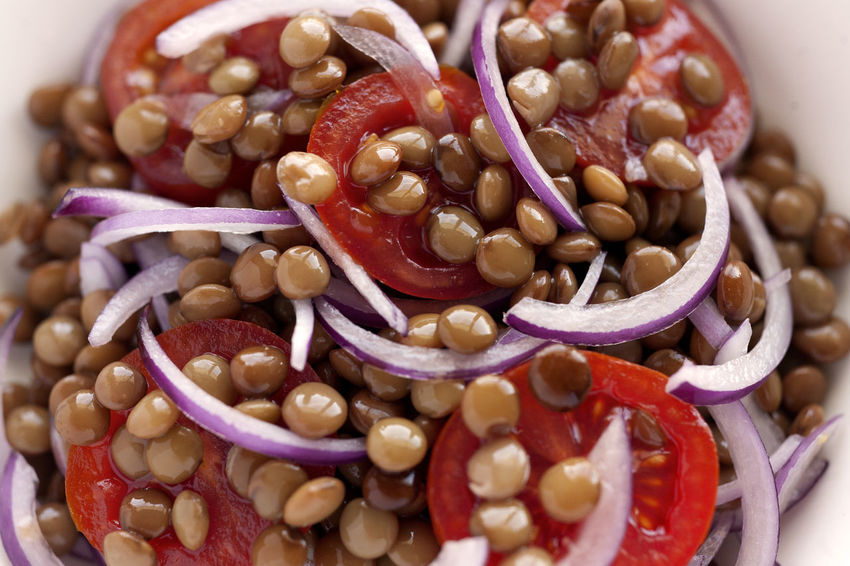 Fresh lentils, cherry tomatoes and spanish onion. Closeup.. Natural Light Salad Spanish Onion Vegetarian Food Beauty In Nature Boiled Lentils Cherry Tomatoes Close-up Directly Above Food Food And Drink Freshness Healthy Eating Legume Salad Lentils No People Ready-to-eat Studio Photography Summer Salad Tomato Cherry Vegan Food