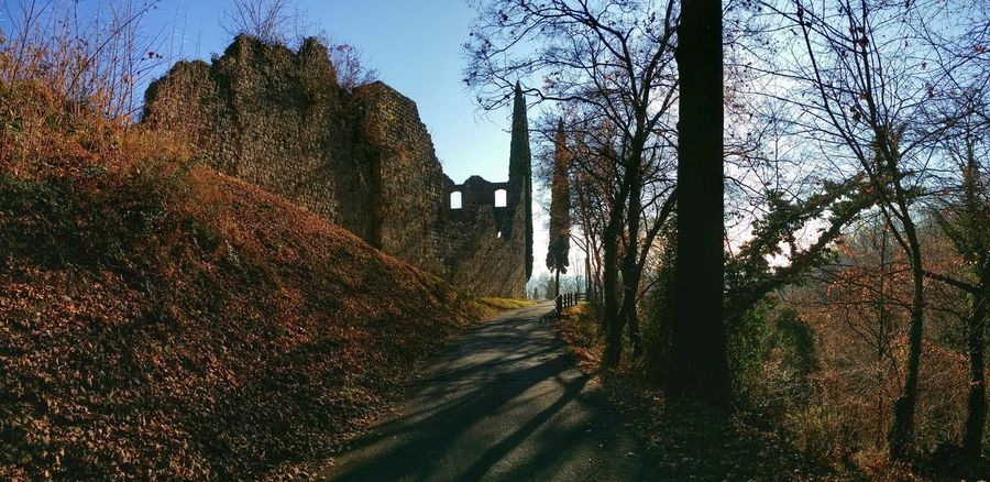 Maniago Castle, Italy Walled Castles Mobile Photography Art Fineart Panoramic Views Scenic Landscapes Mountain Hiking Backlight Trees Silhouettes Long Shadows Showcase: January