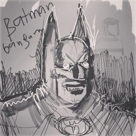 Seorang batman Note Batman Quicksketch