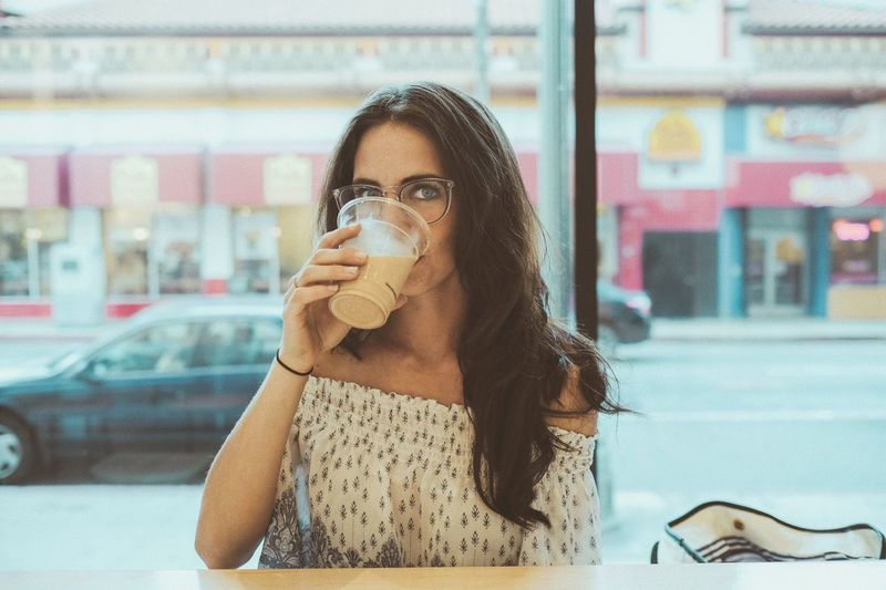 EyeEm Selects Lifestyles Beautiful Los Angeles, California This Week On Eyeem Beauty Downtown VSCO Portrait Portrait Of A Woman Natural Light One Person Drinking Looking At Camera Close-up EyeEm Selects The Week On EyeEm