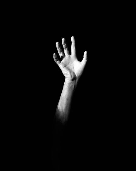 Human Hand Human Body Part Black Background Studio Shot One Person Palm Real People Close-up Indoors  Adult People Day Adults Only